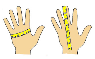 How to measure for gloves - Townfields Saddlers