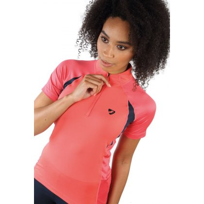 Shires Aubrion Highgate Short Sleeve Base Layer Coral