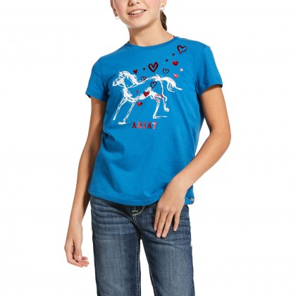 Ariat® Junior Pony Love Tee Blue Dawn