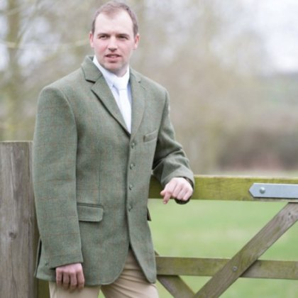 Equetech Mens Claydon Tweed Range Riding Jacket