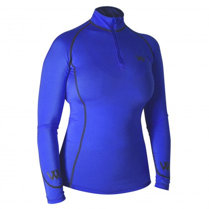 Woof Wear Performance Riding  Shirt Electric Blue