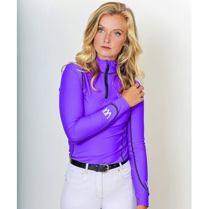 Woof Wear Performance Riding Shirt Ultra Violet