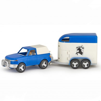 Papo 4x4 Off-Road Car and Horse Van Set