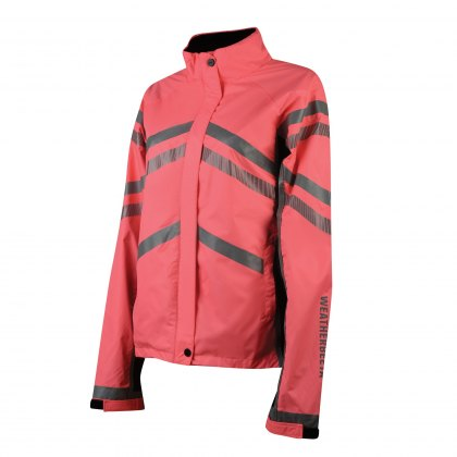 WeatherBeeta Adults Pink Reflective Lightweight Waterproof Jacket Hi-Vis