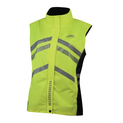 WeatherBeeta Adults Yellow Reflective Lightweight Waterproof Vest Hi-Vis