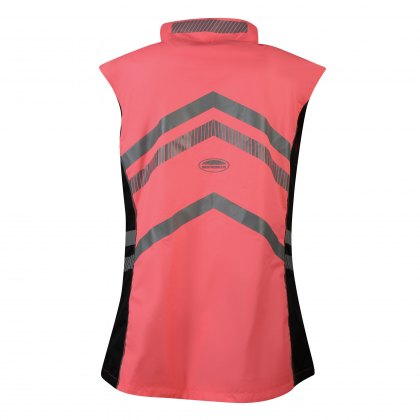 WeatherBeeta Adults Pink Reflective Lightweight Waterproof Vest Hi-Vis