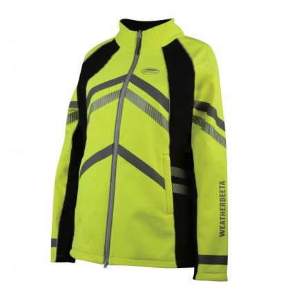 WeatherBeeta Childs Yellow Reflective Softshell Fleece Lined Jacket Hi-Vis