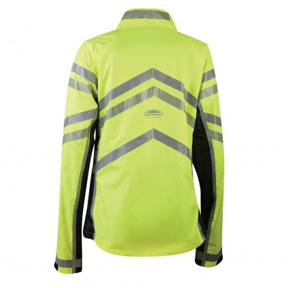 WeatherBeeta Adults Yellow Reflective Softshell Fleece Lined Jacket Hi-Vis