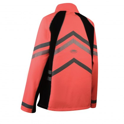 WeatherBeeta Childs Pink Reflective Softshell Fleece Lined Jacket Hi-Vis