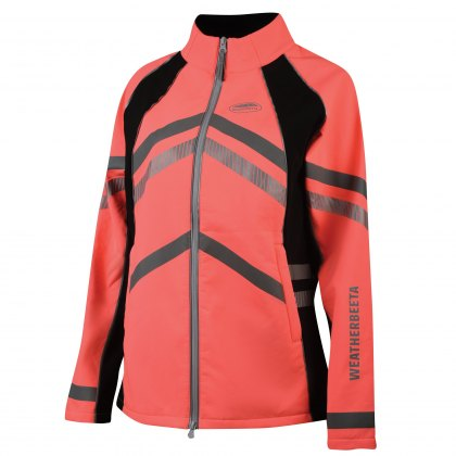 WeatherBeeta Adults Pink Reflective Softshell Fleece Lined Jacket Hi-Vis