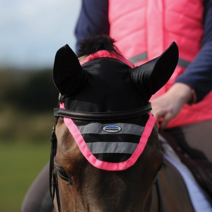 WeatherBeeta Reflective Ear Bonnet Pink