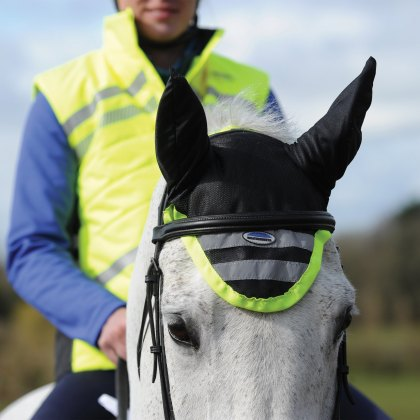 WeatherBeeta Reflective Ear Bonnet Yellow