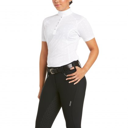 Ariat® Ladies Sunstopper Show Shirt Short Sleeve White