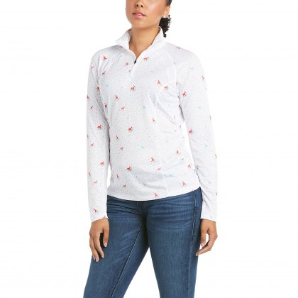 Ariat® Ladies Sunstopper 1/4 Zip Horses & Dots