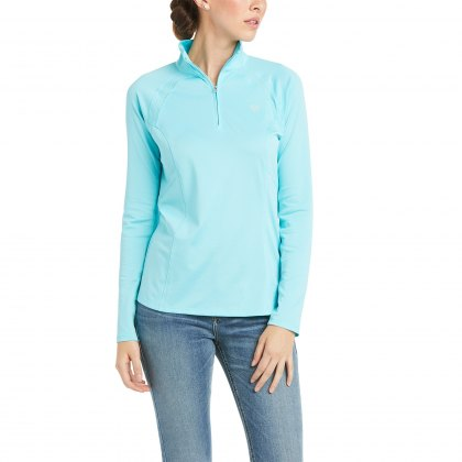 Ariat® Ladies Sunstopper 1/4 Zip Cool Blue