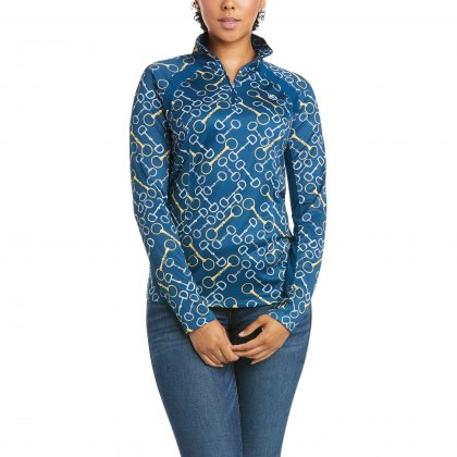 Ariat® Ladies Sunstopper 1/4 Zip Blue Opal Bits