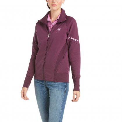 Ariat® Ladies Largo Full Zip Sweatshirt Italian Plum