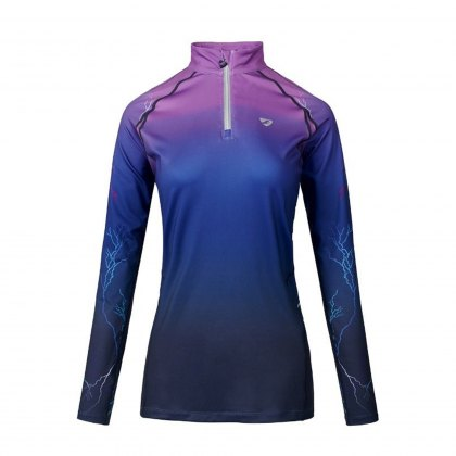 Shires Aubrion Ladies Hyde Park Cross Country Shirt Purple Lightning