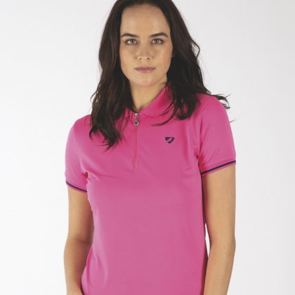 Shires Aubrion Ladies Parsons Polo Shirt Pink