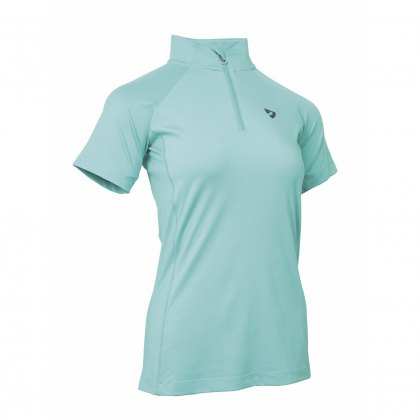 Shires Aubrion Ladies Highgate Short Sleeve Base Layer Aqua