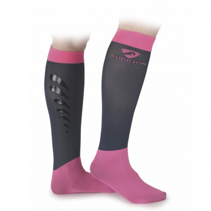 Shires Aubrion Adults Sudbury Socks Pink