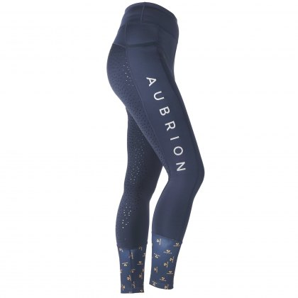 Shires Aubrion Ladies Stanmore Full Seat Tights Navy