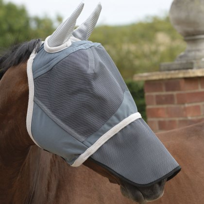 WeatherBeeta Deluxe Fly Mask with Nose Grey