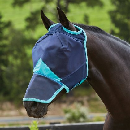 WeatherBeeta ComFiTec Fine Mesh Mask With Nose Navy/Turquoise
