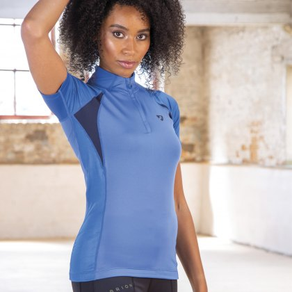 Shires Aubrion Highgate Short Sleeve Base Layer Blue