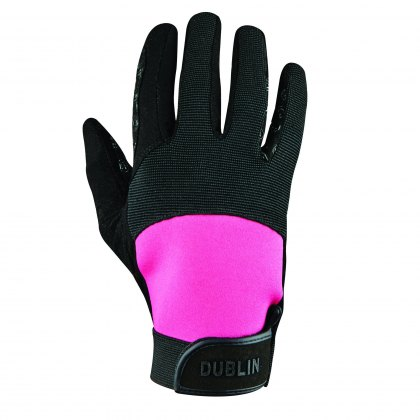 Dublin Cross Country Riding Gloves II Black/Pink