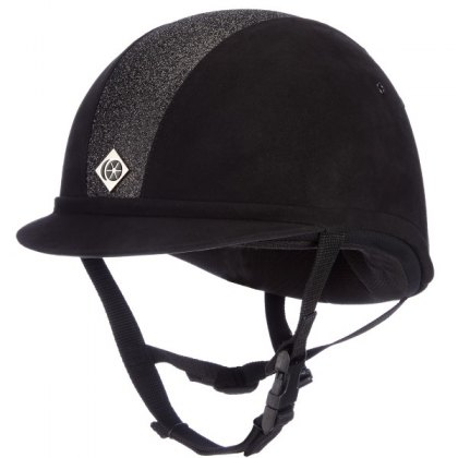 Charles Owen Black Sparkly YR8 Riding Hat