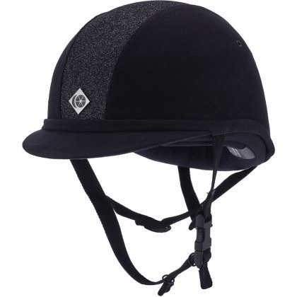 Charles Owen Navy Sparkly YR8 Riding Hat