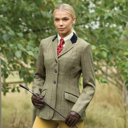 Equetech Launton Deluxe Ladies Tweed Riding Jacket