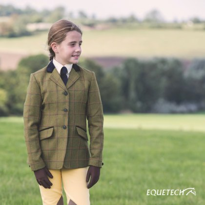 Equetech Launton Deluxe Junior Tweed Riding Jacket
