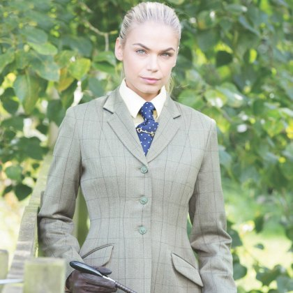 Equetech Foxbury Ladies Tweed Riding Jacket