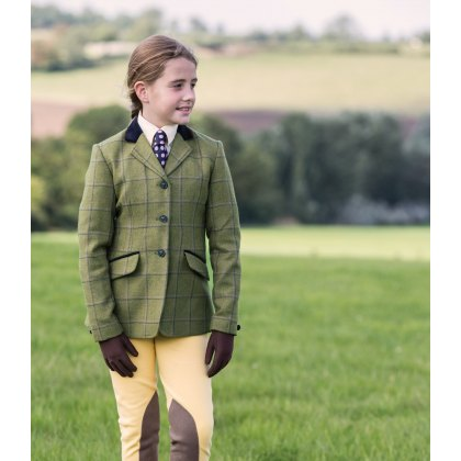 Equetech Adstock Deluxe Junior Tweed Riding Jacket