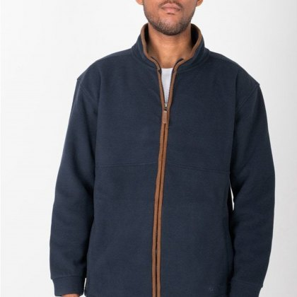 Hazy Blue Mens Finley Full Zip Fleece Jacket