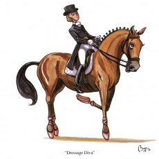 CSP Bryn Parry Dressage Diva Greeting Card