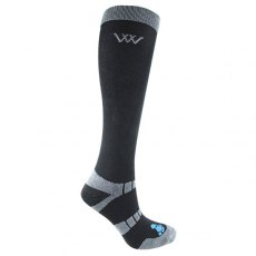 Woof Wear Bamboo Long Black Riding Socks