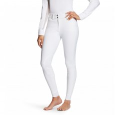Ariat® Tri Factor Grip Knee White Breeches